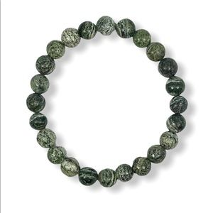 Jewelry - Green Jasper Gemstone Stretch Bracelet